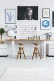Werkplaats voor twee ontwerpers royalty-vrije stock foto's