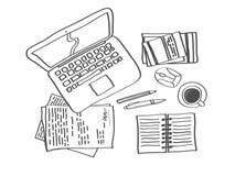 Werkplaatsschets 1 Vector Illustratie