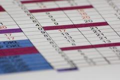 Werkplan Stock Fotografie