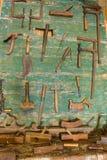 Werkstatt des alten Tischlers Stockbilder
