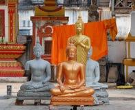 Werkstatt für die Produktion von Buddhas Stockbild