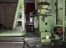 Werkstatt: große Bohrmaschine Stockbild