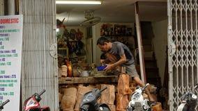Werkstatt in Hanoi Vietnam Stockbild