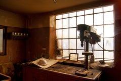 Werkstatt im Tramdepot Stockfotos