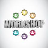 Werkstattteamwork-Illustrationsdesign Lizenzfreie Stockfotos
