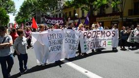 Werkt Dagprotesten 3 stock footage