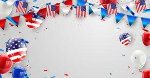 Werktagskartendesign amerikanische Flagge Stockbilder