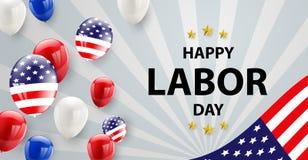 Werktagskartendesign amerikanische Flagge Stockfotos
