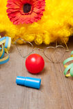 Werktuigen van een clownkostuum Royalty-vrije Stock Afbeelding