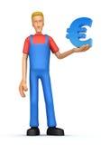 Werktuigkundige met euro Stock Illustratie