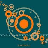 werktuigkundigen Roterende componenten van mechanische eenheid Vector vector illustratie