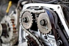 Werktuigkundigen van een motor van een auto royalty-vrije stock afbeelding