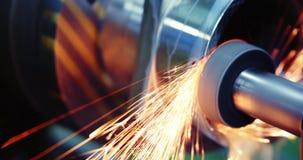 Werktuigmachine in metaalfabriek met het boren van cnc machines royalty-vrije stock fotografie
