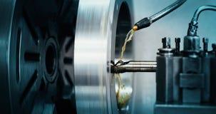 Werktuigmachine in metaalfabriek met het boren van cnc machines royalty-vrije stock foto