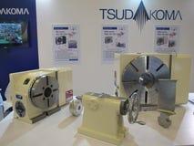 Werktuigmachines van tsudakoma Japan in bitecbangna van Metallex 2014, Thailand royalty-vrije stock afbeelding