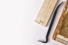 Werkzeug für den Abbau von Holzbauweisen Lizenzfreie Stockfotografie