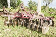 Werkzeug für die Landwirtschaft: Scheibenegge Stockbild