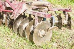 Werkzeug für die Landwirtschaft: Scheibenegge Stockbilder