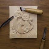 Werkzeug für Woodcarving Lizenzfreie Stockbilder