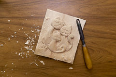 Werkzeug für Woodcarving Lizenzfreies Stockbild
