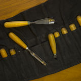 Werkzeug für Woodcarving Lizenzfreie Stockfotos