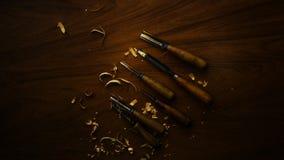 Werkzeug für Woodcarving Stockfoto