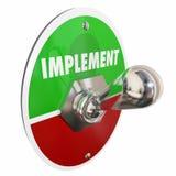 Werkzeug-Kippschalter führen Plan-Strategie durch lizenzfreie abbildung