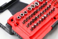 Werkzeug- oder Schraubenzieherkasten für Reparatur und Wartung Stockbilder