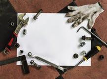 Werkzeug-Schraube nagelt Bolzen-mechanisches Fett-Konzept Lizenzfreies Stockfoto