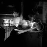 Werkzeug-Tropfenfänger-Kaffee-Herstellung Stockfoto