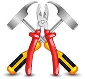 Werkzeugausstattung für Arbeit Lizenzfreies Stockbild