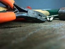 Werkzeuge der Zimmerei und DES DIY-Handels Stockfotos