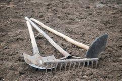 Werkzeuge des Gartens Stockfotos