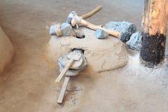 Werkzeuge des Hausgebrauches von Bronzejahrhundert stockbild