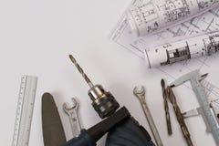 Werkzeuge für Arbeit stockfoto