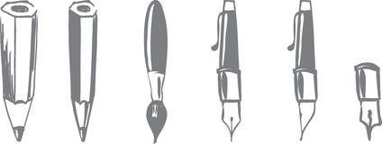Werkzeuge für das Schreiben Stockbild