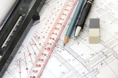 Werkzeuge für das Skizzieren Lizenzfreie Stockbilder