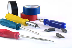 Werkzeuge für den Elektriker Stockfotografie