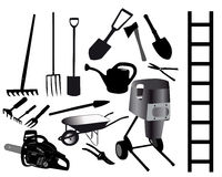 Werkzeuge für den Gärtner Lizenzfreie Abbildung