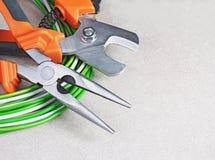 Werkzeuge für Elektriker Stockfotografie