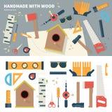 Werkzeuge für handgemachte Sachen Stockbilder