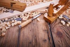 Werkzeuge für Holzbearbeitung Lizenzfreie Stockfotografie