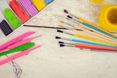 Werkzeuge für kreative Arbeit Lizenzfreies Stockfoto