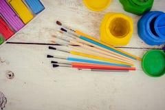 Werkzeuge für kreative Arbeit Stockbild