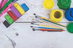 Werkzeuge für kreative Arbeit Lizenzfreie Stockbilder
