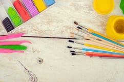Werkzeuge für kreative Arbeit Stockbilder