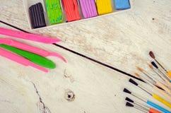 Werkzeuge für kreative Arbeit Stockfotografie