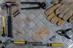 Werkzeuge für manuelle Künste u. Handwerk stockfotografie