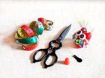 Werkzeuge für Näharbeit Stockbilder