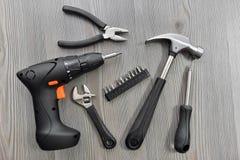 Werkzeuge für Arbeit Stockbild